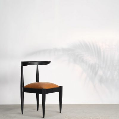 kam ce kam, tera chair, solid ash, stained timber, black, matt black
