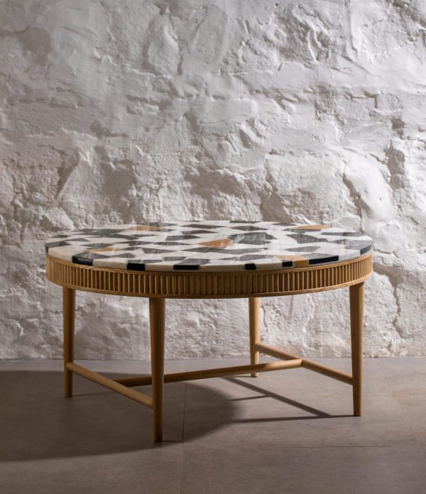 Kam Ce Kam, Mausam coffee table with marble off-cuts terrazzo top